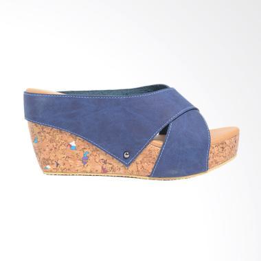 Dr.Kevin 27367 Wedges Women Sandals - Blue