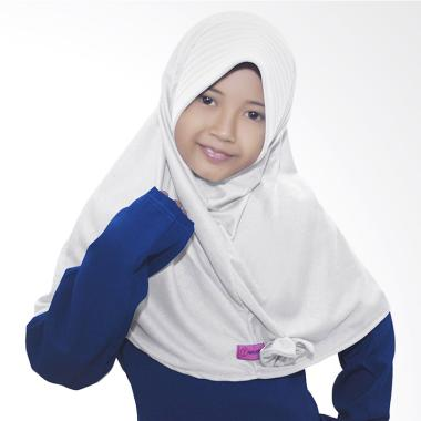 BajuYuli Kerudung Polos Pita Cantik Jilbab Anak - Putih