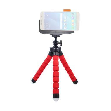 Mine Spider Flexible Tripod Mini wi ... Flip for Smartphone - Red
