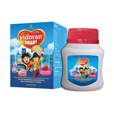 Vidoran Smart Strawberry Tablet [30 Tablet/2 pcs]
