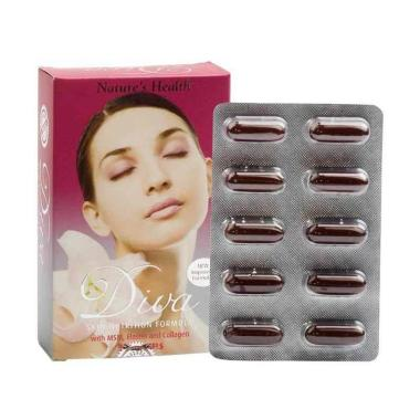 Nature's Health Diva II Collagen Sk ... en Kecantikan [30 Sofgel]