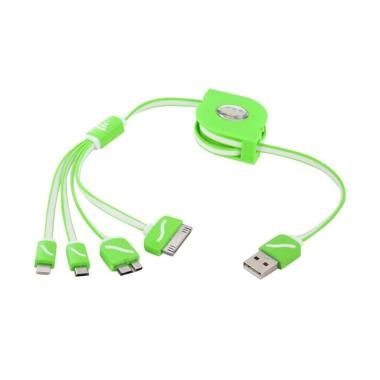 Grosir Express 4in1 USB Cable - Green