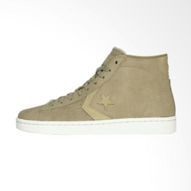 Converse 76 Mid Vintage Sepatu Sneakers Pria - Khaki