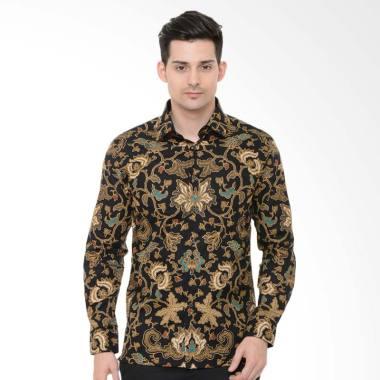 Alisan Panjang Kemeja Batik Pria - Coklat