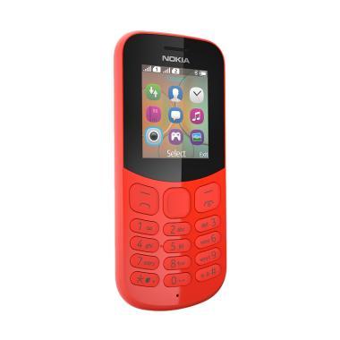Nokia 130 New 2017 Candybar Handphone - Red [Dual Sim/Camera]