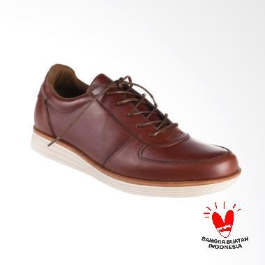 BLANKENHEIM Sneakers Kulit Sepatu Pria - Dark Brown [Original]