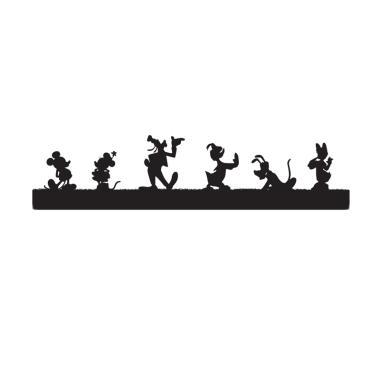 SKUGGA Mickey & Friends Single Module Lampu Dinding - Black