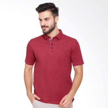 Arnett Komb Kantong Tempel Polo Shirt Fashion Pria - Red
