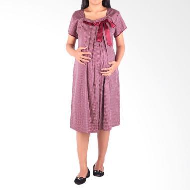 HMILL D1372 Dress Hamil Menyusui - Merah