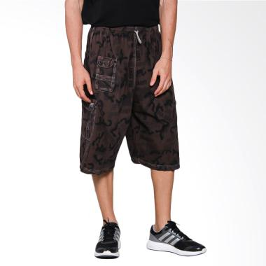 VM Soft Jeans Celana Pendek Pria - Coklat Tua
