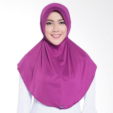 Elzatta Zaria Sahara NR Jilbab Instant - Dark Purple 602