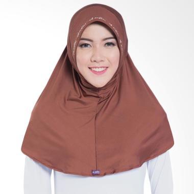 Elzatta Zaria M Rumana Jilbab Instant - Dark Brown