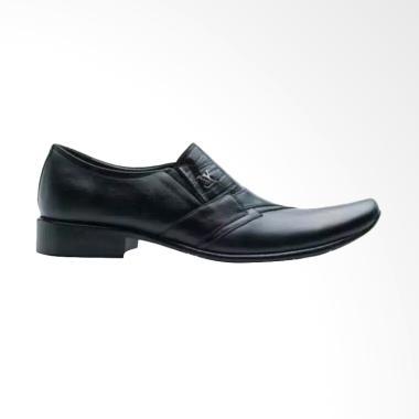 LV Pantofel Shoes Sepatu Kulit Pria - Black