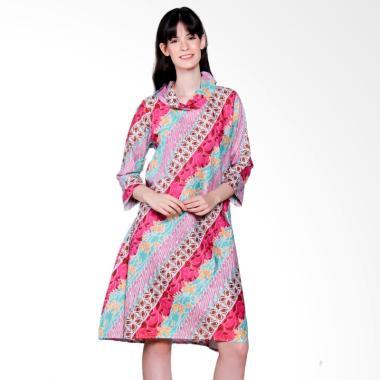 Jogja Batik Aulia Midi Dress Batik - Pink