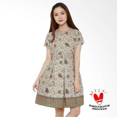 Flike Store Flare Peppermint Dress Batik Wanita