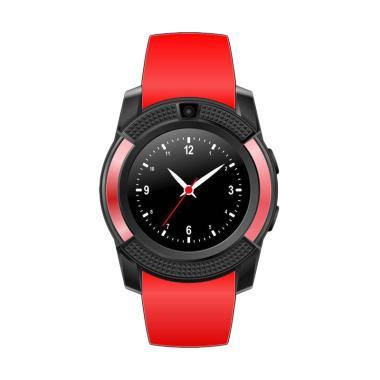 SOXY CC0406R The New V8 intelligent Men's Camera Smartwatch - Red