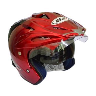 G2 Helmet Exterminator Polos Helm Half Face - Red