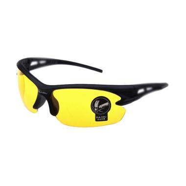 OULAIOU Lensa Mercury Kacamata Sepeda - Black Yellow [3015]
