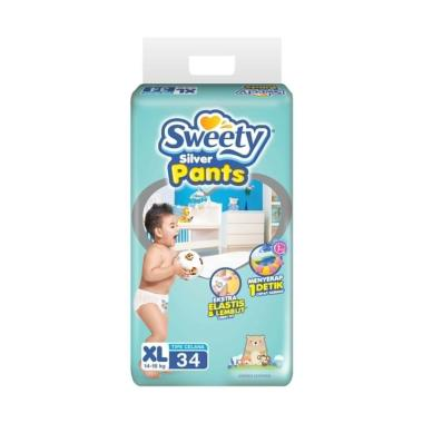 Sweety Diapers Silver Pants Popok Bayi [XL/34 pcs]
