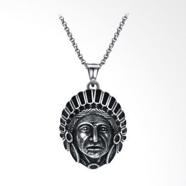 SOXY Retro Fashion Titanium Steel N ... g Pria - Silver [GMYN085]