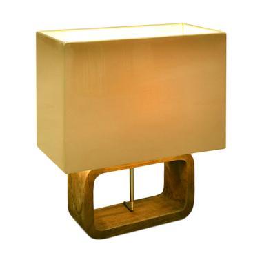 Hermosa Home Decor Table Lamp Aksen Dekorative - Metro White