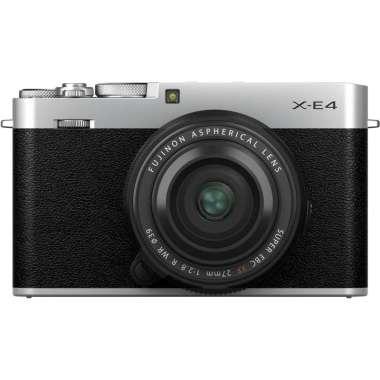 harga Gudang Digital- Fujifilm XE4 X-E4 Kit 27mm F2.8 R WR Fuji XE4 X-E4 Kamera Mirrorless Garansi Resmi Silver Blibli.com