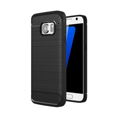 best cheap d17ae 767fa XCASE Slim Rugged Casing for Samsung Galaxy S7 Flat - Black Carbon