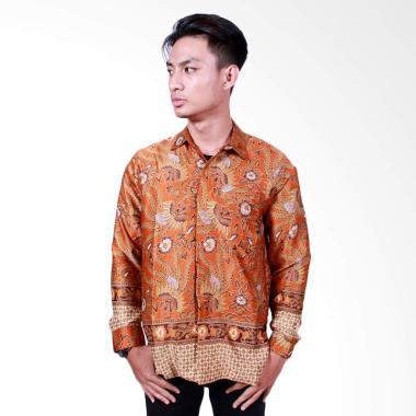 Batik Putri Ayu Solo Kemeja Batik P ... Panjang - Orange [KPJ501]
