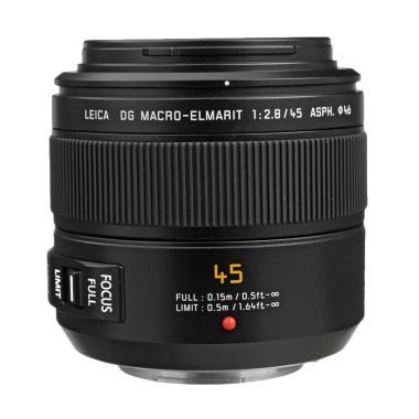 Panasonic H-ES045E Leica DG Macro-E ...  OIS Lensa Kamera - Black