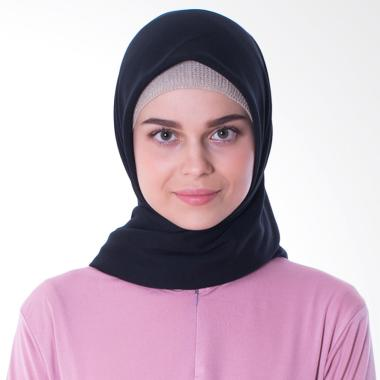 Elzatta Keiva Vabia Jilbab Segiempat - Black