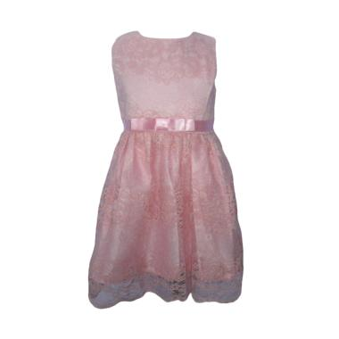 VERINA BABY Glamour Dress Pesta Anak - Pink Lace