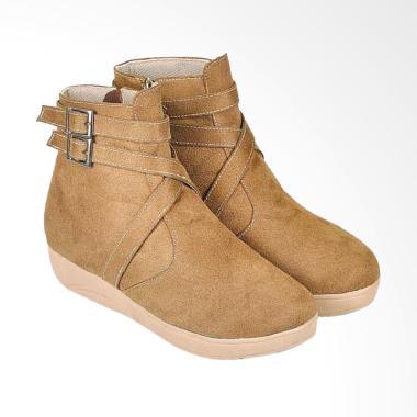 JAVA SEVEN JV-BJI 674 Mid Calf Boots Sepatu Wanita - Coklat