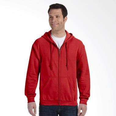 Refill Stuff Hoodie Polos Jaket Pria - Merah