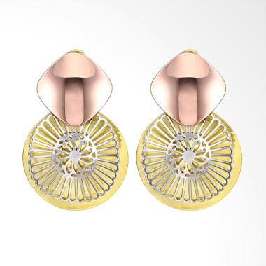SOXY KZCE170-A Flower-Shaped Romantic Lady Earrings - Gold