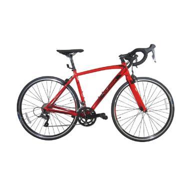 Polygon 700c Strattos S2 Sepeda Roadbike - Merah