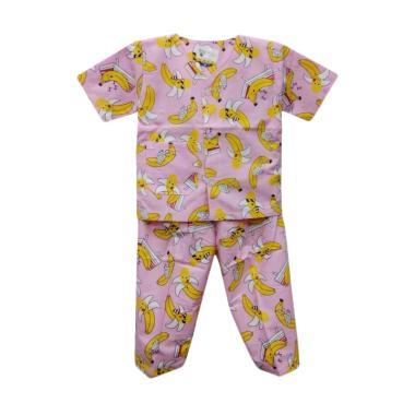 Hoshi Motif Banana Baju Tidur Bayi Perempuan - Pink