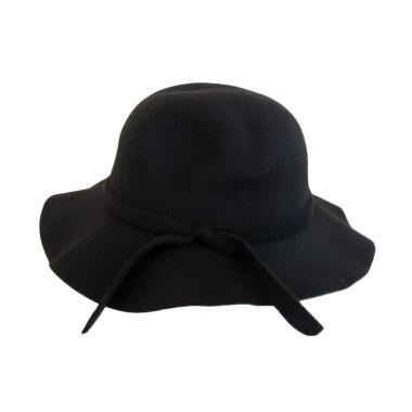 GBS Fashion Wol Fedora Girl Hat Topi Anak - Black