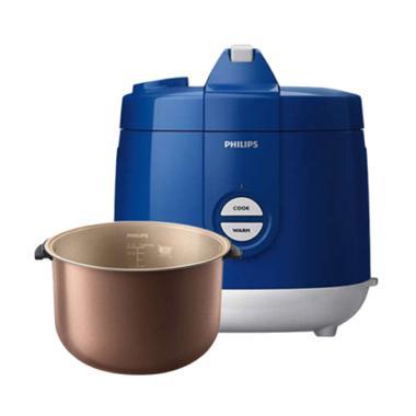 PHILIPS Rice Cooker 2 Liter HD3129 - Biru