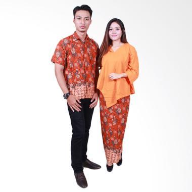 Batik Putri Ayu Solo SRD506 Batik S ... aju Batik Couple - Orange