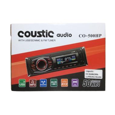 Coustic Audio CO500HP Tape Mp3 USb Radio FM Head Unit Mobil