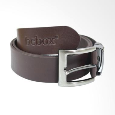 Bebox Kulit Ikat Pinggang Pria - Dark Brown [201CKT]