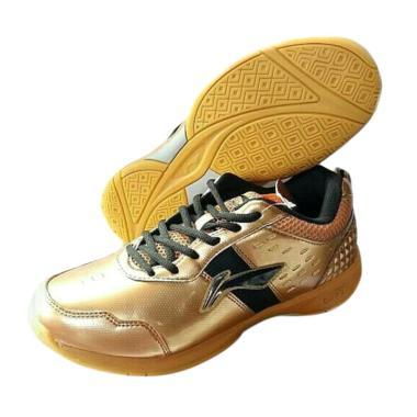 Li-Ning Diva Sepatu Badminton Pria - Gold Black [AYTM059/ Original]