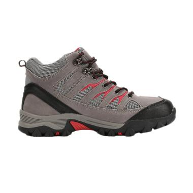 Snta Hiking Outdoor Sepatu Gunung Pria - Grey Red [475]