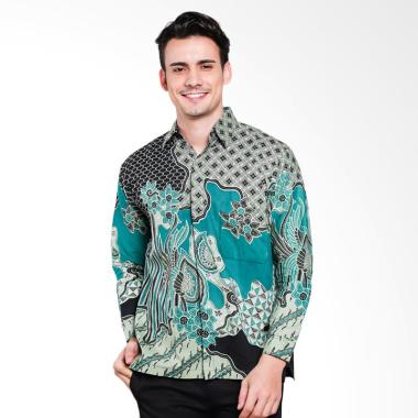 Seruni Batik Men Alvyn Longsleeves  ... k - Green [BTKM 17-12-12]