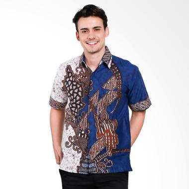 Seruni Batik Men Anson Shortsleeves ... ia - Blue [BTKM 17-12-17]