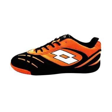 Lotto Stadio P VI 700 ID L Sepatu Futsal Pria - Orange Black [R8825]