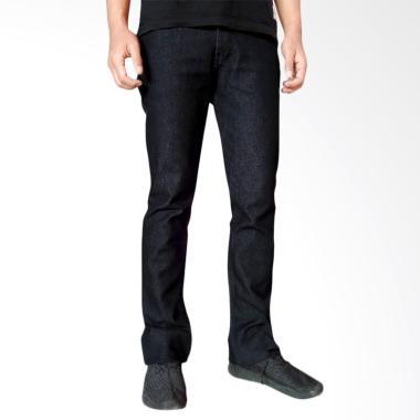 Helder Denim Premium Slim Bootcut Celana Jeans Pria - Black