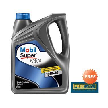Mobil Super 2000 10W 40 Oli 4 Liter
