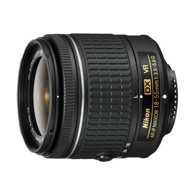 Nikon AF-P DX 18-55MM F-3.5-5.6G VR Lensa Kamera - Hitam