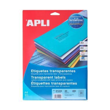 APLI #01224 Polyester Transparent Label Stiker [70 x 37MM/ 480 Unit]
